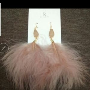 Iced Druzy Feathered Earrings